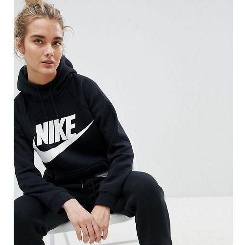 rally logo hoodie in black - black marki Nike