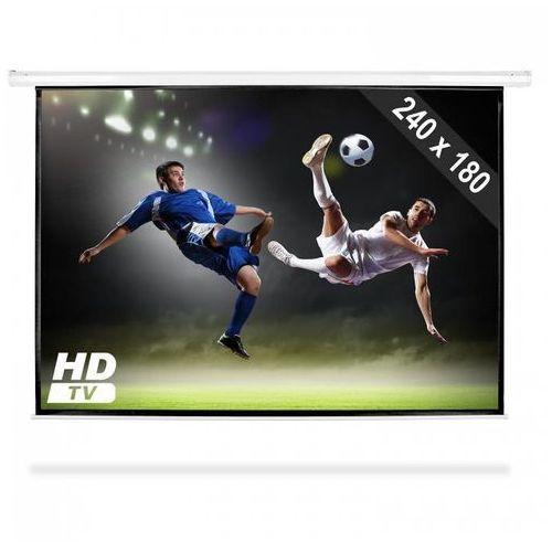 Frontstage elektryczny ekran projekcyjny rozwijany, 240 x 180 cm, kino domowe, hdtv, 4:3