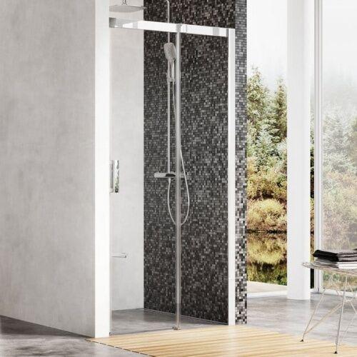 Ravak Matrix drzwi prysznicowe MSD2 - 100 L, wys. 195 cm, Satyna + Transparent 0WLA0U00Z1, 0WLA0U00Z1