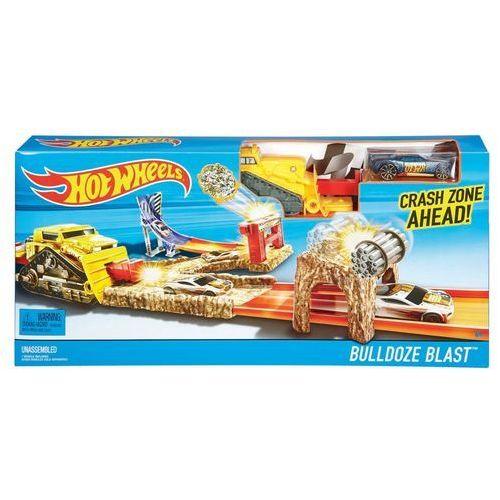 Hot Wheels, Buldoze Blast, minizestaw do zabawy z samochodzikiem z kategorii tory wyścigowe
