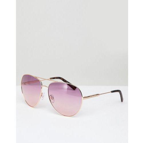 River island ombre lense aviator sunglasses - copper