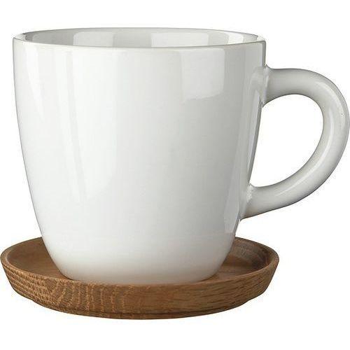 Rorstrand Filiżanka z podstawką do cappuccino höganäs keramik biała (7310632572015)