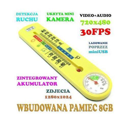Szpiegowski Termometr (8GB), Nagrywający Obraz i Dźwięk + Detekcja Ruchu + Aparat Foto itd.
