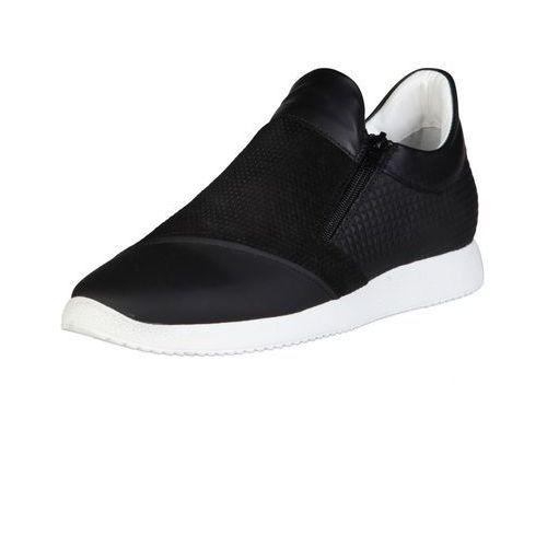 Męskie buty sneakersy grigio czarne, Made in italia
