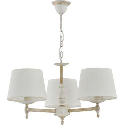 Alfa Lampa wisząca zwis żyrandol roksana 3x40w e14 biały, shabby chic 18533