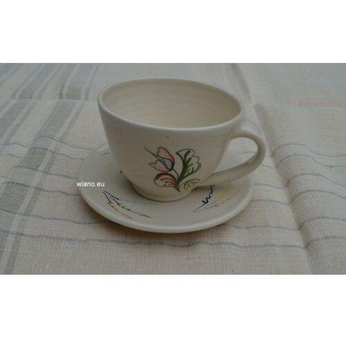 Garncarstwo - ceramika bolimowska - filiżanka do kawy ze spodkiem marki Twórca ludowy