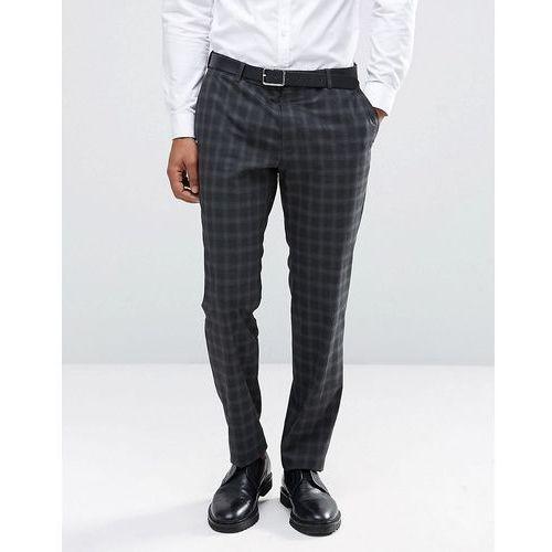 Jack & Jones Premium Skinny Suit Trouser in Check - Grey