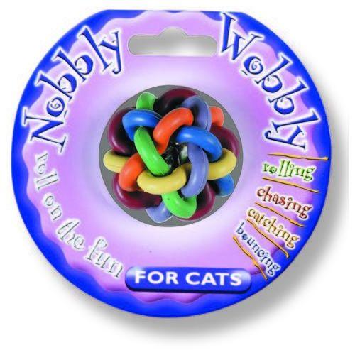 Piłka Nobbly Wobbly z dzwonieczkiem dla kota marki HappyPet