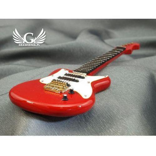 Mini gitara elektryczna z futerałem - czerwona - model mgt5 marki Grawernia.pl - grawerowanie i wycinanie laserem