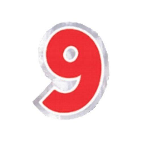 """Naklejka na balon, cyfra """"9"""" - 1 szt marki Amscan"""