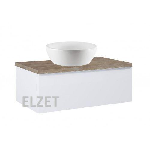Elita szafka look 1s white pod umywalkę nablatową + blat 80 dąb classic 167079+166899