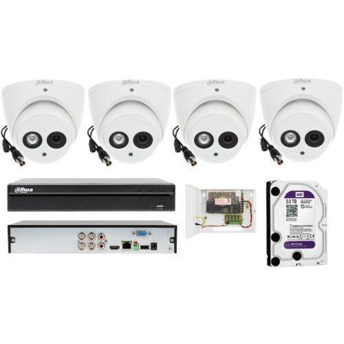Gotowy system monitoringu na 4 kamery z podczerwienią do 50 metrów