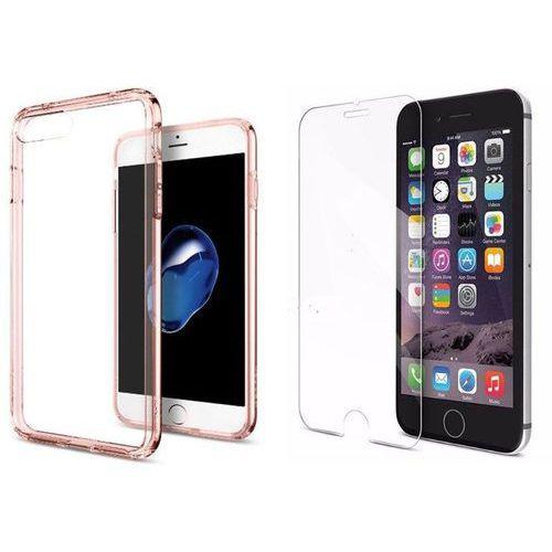 Sgp - spigen / perfect glass Zestaw | spigen sgp ultra hybrid rose crystal | obudowa + szkło ochronne perfect glass dla modelu apple iphone 7 plus