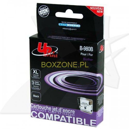 Uprint  kompatybilny ink z lc-980bk, black, 15ml, b-980b, dla brother dcp-145c, 165c (3584770881764)