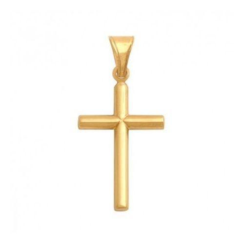 Krzyżyk złoty pr. 585 - 40883 wyprodukowany przez Rodium