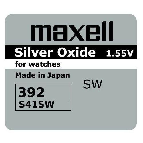 bateria srebrowa mini Maxell 384 / 392 / SR 41 SW / SR 736 SW / G3 (4902580132101)