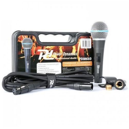 Power dynamics pdm660 mikrofon pojemnościowy xlr +48v