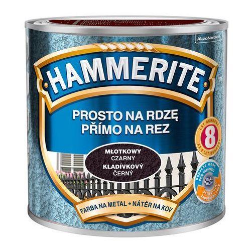 Farba Prosto Na Rdzę - Efekt Młotkowy Czarny 0,25L Hammerite (5011867039695)