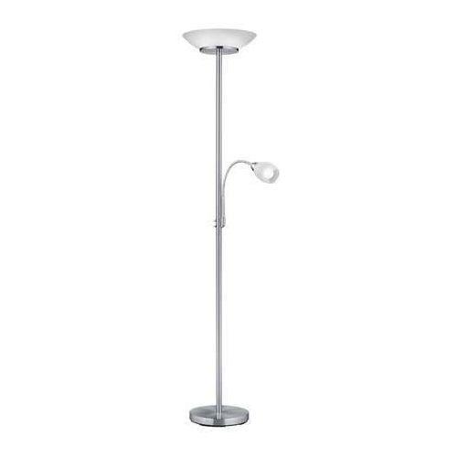 Trio RL Gerry R40063107 lampa podłogowa stojąca 2x18W E27+ 1x10W E14 nikiel mat / biały