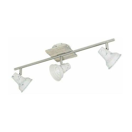 Eglo Lampa sufitowa reflektorki 3xgu10 w stylu shabby chic