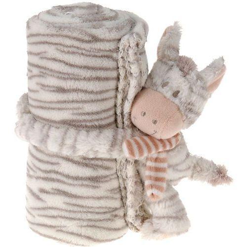 Maskotka z kocykiem dla dziecka - 75 x 100 cm - zebra