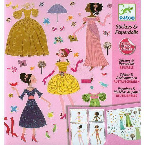 Djeco, Zestaw z naklejkami, ubrania - produkt z kategorii- Zabawki kreatywne