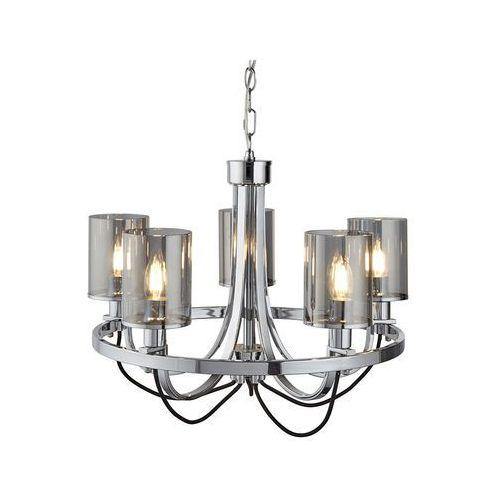 Searchlight 9045-5cc lampa wisząca nowoczesna catalina chrom