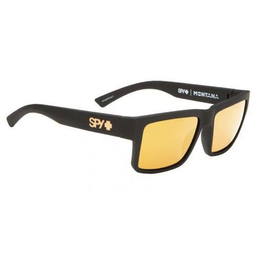 Spy Okulary słoneczne montana soft matte black - happy bronze w/ gold mirror