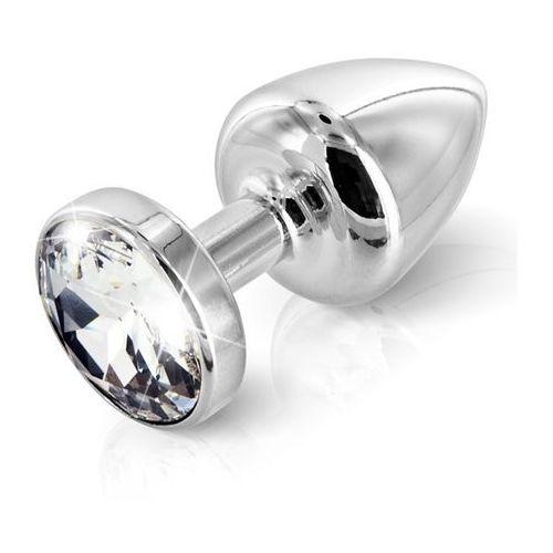 Zdobiony plug analny - Diogol Anni Butt Plug Round Silver Plated 25 mm Okrągły Srebrny