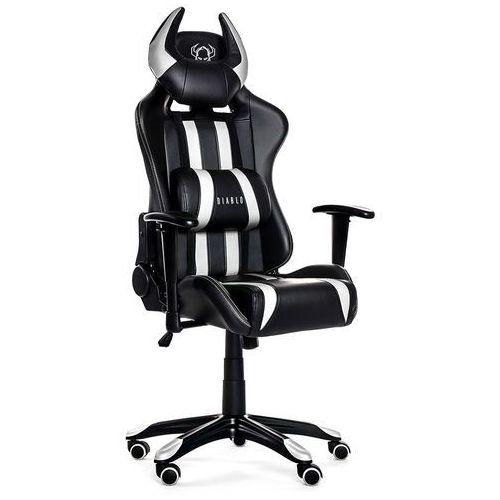Fotel DIABLO X-One Horn Czarno-biały + Zamów z DOSTAWĄ JUTRO! + DARMOWY TRANSPORT!