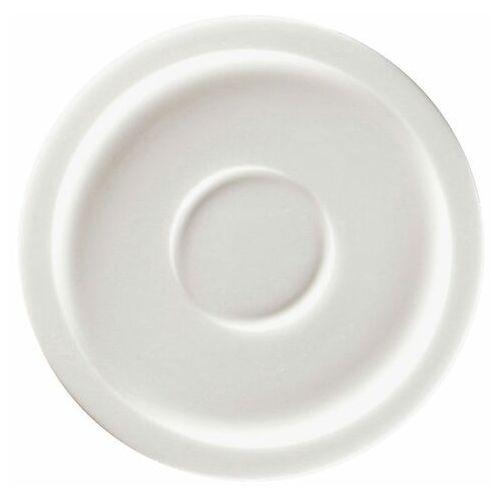 Spodek porcelanowy pod filiżankę stone biały marki Rak