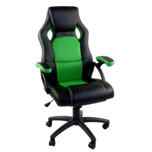 Fotel dla gracza rca czarno-zielony marki Giosedio
