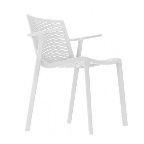 Krzesło NetKat z podłokietnikami białe, 19068