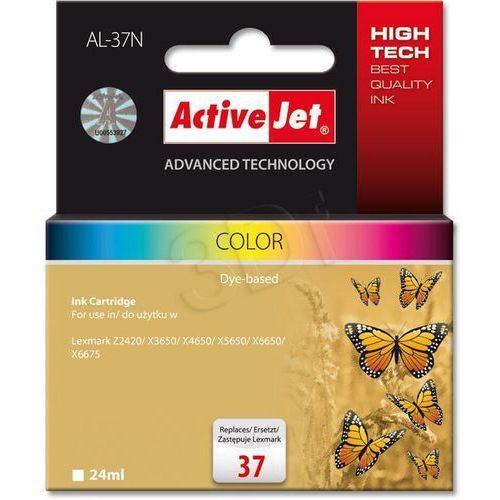Tusz AL-37N Kolor do drukarek Lexmark (Zamiennik Lexmark 37XL / 18C2180E) [24ml]