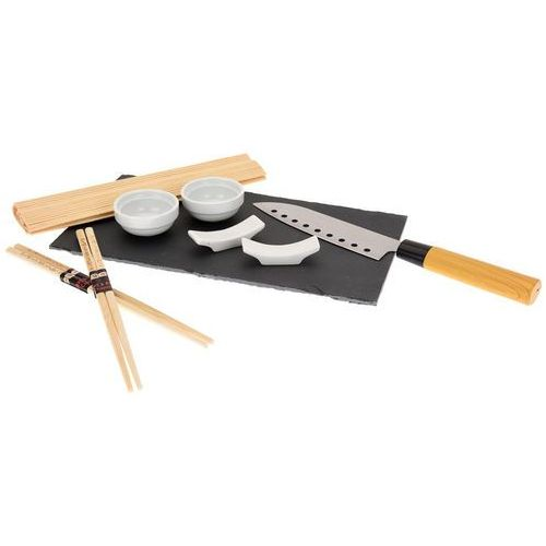 Zestaw do sushi z nożem i kamienną tacą (9 elementów) - Excellence Homeware, B06W5J4WMV