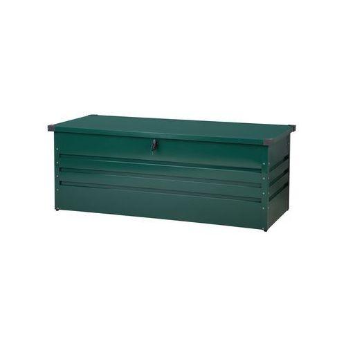 Skrzynia ogrodowa stalowa ciemnozielona 165 x 70 cm CEBROSA