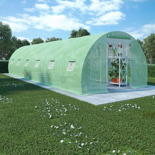szklarnia ogrodowa, stalowa konstrukcja, 27 m², 900x300x200 cm marki Vidaxl