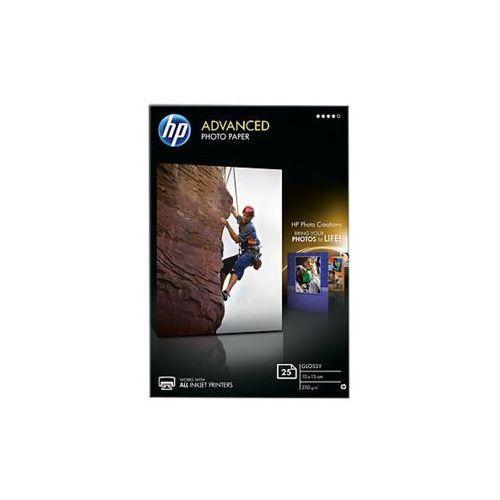 Papier fotograficzny advanced, błyszczący — 25 arkuszy/10 x 15 cm bez marginesów q8691a marki Hp