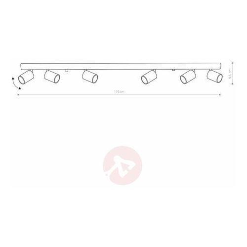 Listwa Nowodvorski Eye 8819 lampa oprawa sufitowa 6x35W GU10 czarna/mosiądz, 8819