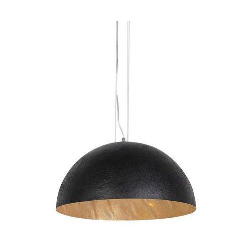 Qazqa Nowoczesna lampa wisząca czarna ze złotym wnętrzem 50cm - magna