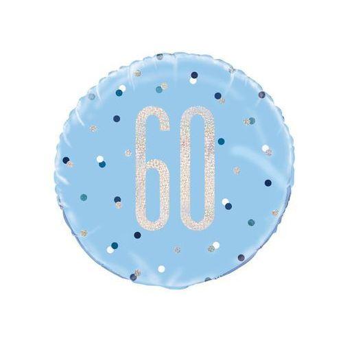 Balon foliowy niebieski - 60 - 46 cm - 1 szt. marki Unique