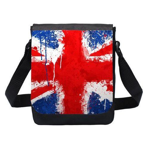 Torba na ramię mała United Kingdom, kolor czarny