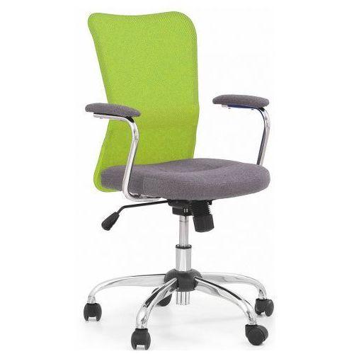 Młodzieżowy fotel obrotowy Alwer - zielony, kolor zielony