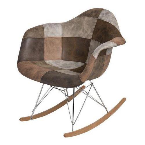 Krzesło P018 Patchwork inspirowane RAR - beżowy ||brązowy, kolor brązowy