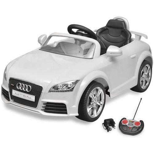 Vidaxl audi tt rs samochód dla dzieci z pilotem biały (8718475931416)