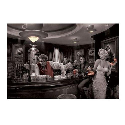 Marilyn monroe, james dean i elvis presley - java dreams by chris consani - plakat marki Gf