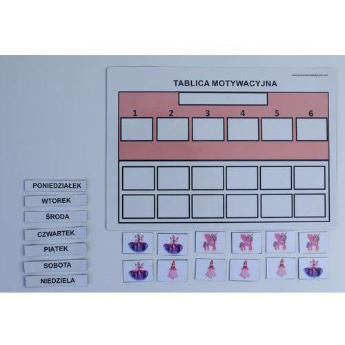 Uproszczona magnetyczna tablica motywacyjna A4 z księżniczkami