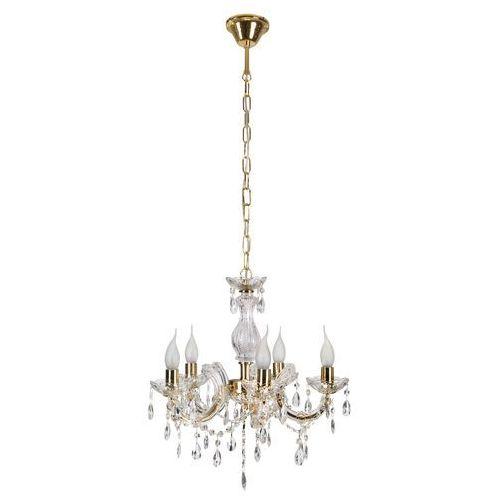 Lampa wisząca maria teresa 5x40w e14 złota 35-94646 marki Candellux