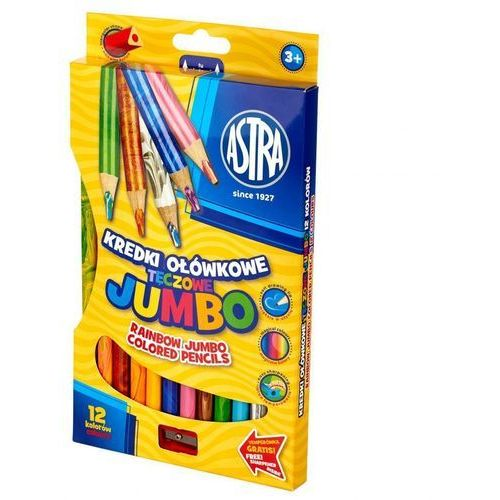 Kredki ołówkowe jumbo tęczowe 12 kolorów marki Astra papiernicze