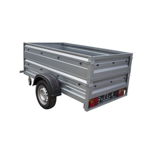 Przyczepa samochodowa 200 x 106 lekka z dodatkowymi burtami dmc 750 kg garden trailer 200  marki Unitrailer